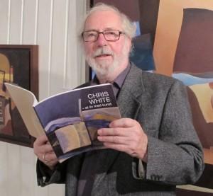 Chris White - et liv med kunst. Det er også tittelen på kunstbiografien utgitt sensommeren 2013.