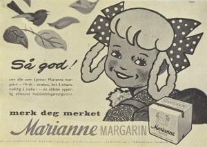 Hvilken kjent kvinne i Gamlebyen sto modell for Marianne margarin?